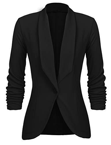 Unibelle Damen Blazer Cardigan Dünn 3/4 Längere Elegant Leicht Bolero Jacke Blazer Slim Fit Anzug Trenchcoat ,...