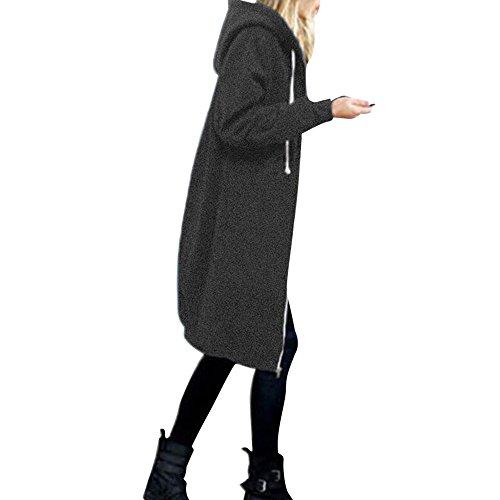 OverDose Damen Herbst Winter Outing Stil Frauen Warm Reißverschluss Öffnen Clubbing Dating Elegante Hoodies Sweatshirt...