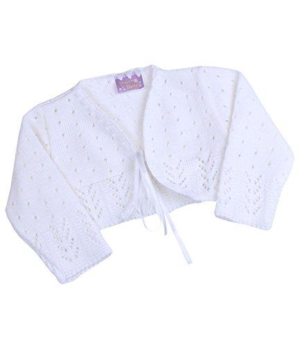 Babyprem Babykleidung Bolero Jäckchen Pullover 74 / 80cm Weiss